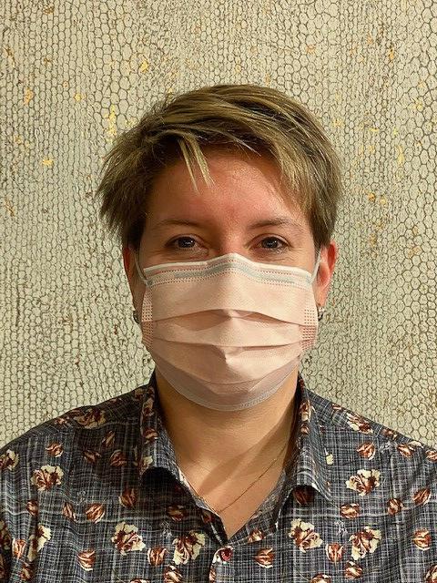 Roze chirurgische mondmaskers