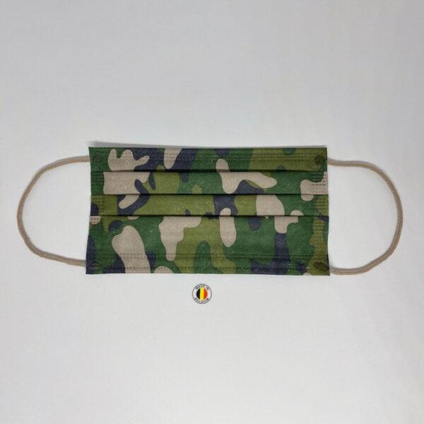 Kaki camouflage chirurgische mondmaskers